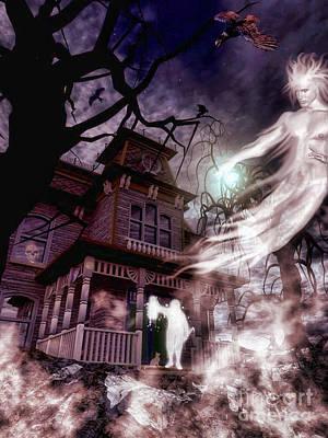 The Haunting Of Blackthorne Manor  Art Print by Putterhug  Studio