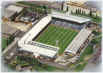 Sports Paintings - The Hawthorns - W.B.A. by Kevin Fletcher