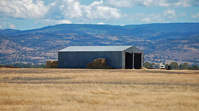 Photograph - The Hay Shed by Holly Blunkall