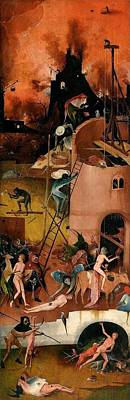 Rights Painting - The Hay Wagon - Right Wing by Hieronymus Bosch