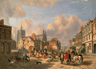 Bales Painting - The Haymarket, Norwich Signed And Dated by Litz Collection