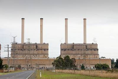 Carbon Dioxide Photograph - The Hazelwood Coal Fired Power Station by Ashley Cooper