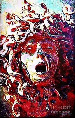 The Head Of Medusa Print by Larry Lamb