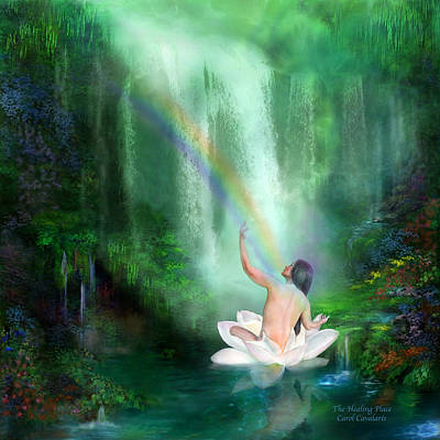 Rainbow Art Mixed Media - The Healing Place by Carol Cavalaris