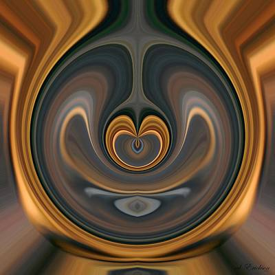 Digital Art - the Heart of Time by rd Erickson
