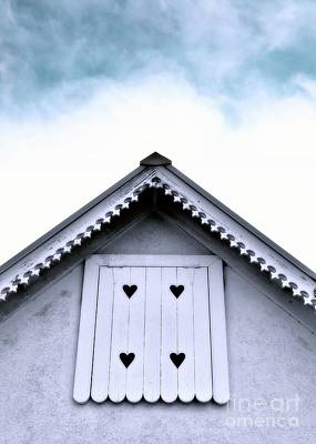 Photograph - The Heart Shutters-cottage by Darla Wood