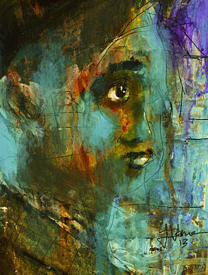 Mixed Media - The Heaviness Of Worry by Jim Vance