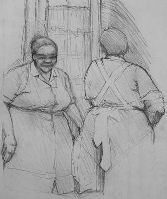 Photograph - The Help - Housekeepers Of Soniat House Sketch by Jani Freimann