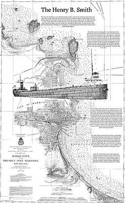 Marquette Drawing - The Henry B. Smith by Wesley Mutch