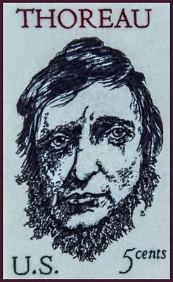 Henry David Thoreau Painting - The Henry David Thoreau Stamp by Lanjee Chee