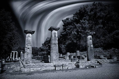 Print featuring the photograph The Heraion Of Ancient Olympia by Micah Goff