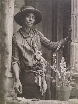 Platinum Drawing - The Herbalist, Probably Louisiana Or South Carolina Doris by Litz Collection