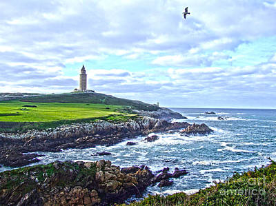 The Hercules Tower Art Print by Andrew Middleton