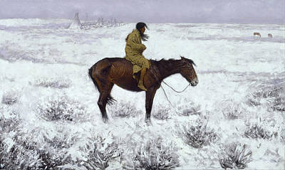 The Herd Boy Art Print by Fredrick Remington
