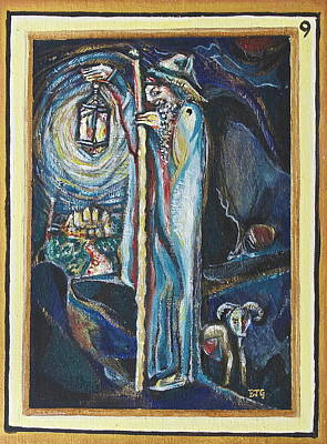 Tarot Painting - The Hermit by Ben J Gross