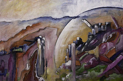 Painting - The Hermit Modern Contemporary Original Painting On Canvas  by Gray  Artus