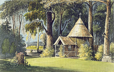 The Hermitage Painting - The Hermitage, From Ackermanns by John Gendall