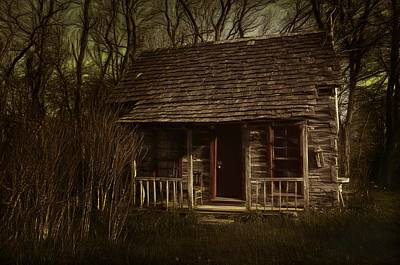 The Hermit's Cabin Art Print by Julie Dant