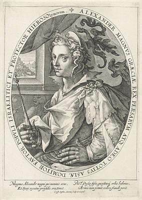 The Hero Alexander The Great, Crispijn Van De Passe Art Print by Crispijn Van De Passe (i)
