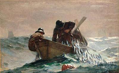 Painting - The Herring Net by Reproduction