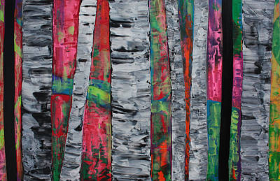Modern Abstract Painting - The Hidden Forest by Laura Barbosa