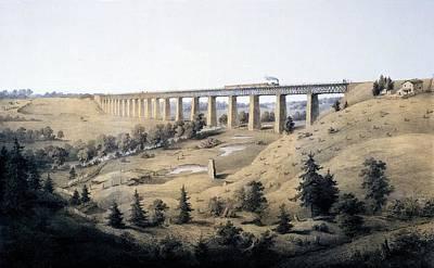 Virginia Drawing - The High Bridge Near Farmville, Prince by Edward Beyer