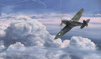 Military Aviation Art Painting - The High Country by Wade Meyers