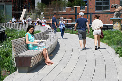 Photograph - The High Line Walkway by Allen Beatty