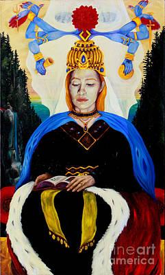 The High Priestess Art Print by An-Magrith Erlandsen
