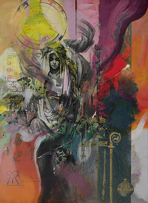 Marseille Painting - The High Priestess by Corporate Art Task Force