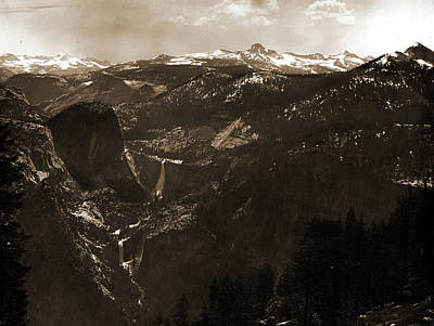 Yosemite National Park Drawing - The High Sierras From Glacier Point, Jackson, William by Litz Collection