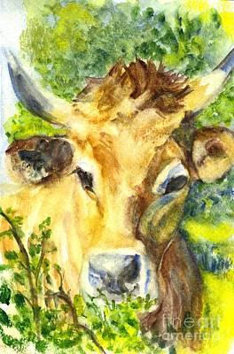 Longhorn Drawing - The Highland Bull by Carol Wisniewski