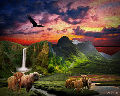Digital Art - The Highlands by Michael Pittas