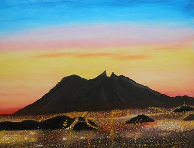 The Hill Of Saddle Monterrey Mexico Art Print by Jorge Cristopulos
