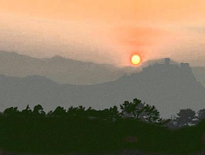Mountainous Mixed Media - The Hills Of Aragon by Dennis Buckman