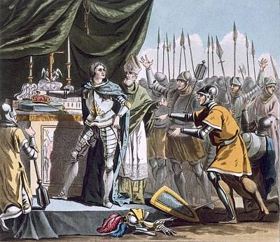 The Historic Day Of Bouvines In 1214 Art Print by Jacques Francois Joseph Swebach