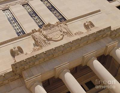 Art Print featuring the photograph The Historical Federal Reserve Bank Of Dallas by Robert ONeil