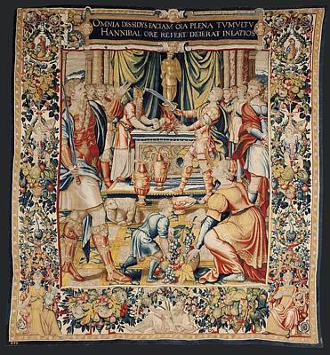 Tapestries Textiles Photograph - The History Of Hannibal Hannibals Oath by Everett