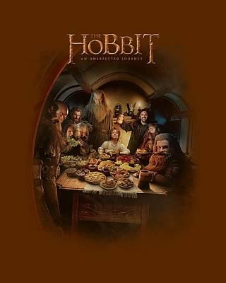 Tolkien Digital Art - The Hobbit - Feast by Brand A