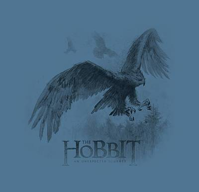 Tolkien Digital Art - The Hobbit - Great Eagle Sketch by Brand A