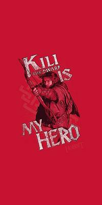 The Hobbit Wall Art - Digital Art - The Hobbit - Kili Is My Hero by Brand A
