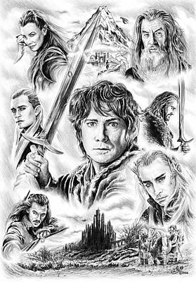 Fan Art Painting - The Hobbit Middle Earth by Andrew Read