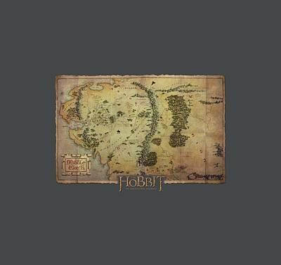 The Hobbit Wall Art - Digital Art - The Hobbit - Middle Earth Map by Brand A