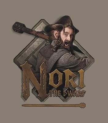 Tolkien Digital Art - The Hobbit - Nori by Brand A
