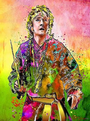 Bilbo Painting - The Hobbit The Desolation Of Smaug by Daniel Janda