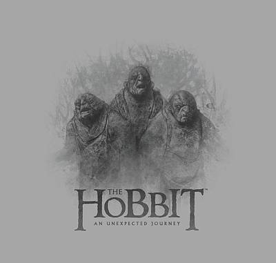 The Hobbit Wall Art - Digital Art - The Hobbit - Three Trolls by Brand A