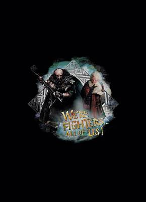 The Hobbit Wall Art - Digital Art - The Hobbit - We're Fighers by Brand A