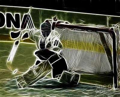 The Hockey Goalie Art Print by Bob Christopher