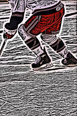 Best Sellers - Sports Royalty-Free and Rights-Managed Images - The Hockey Player by Karol Livote