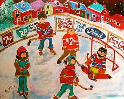 The Hockey Rink Original by Michael Litvack